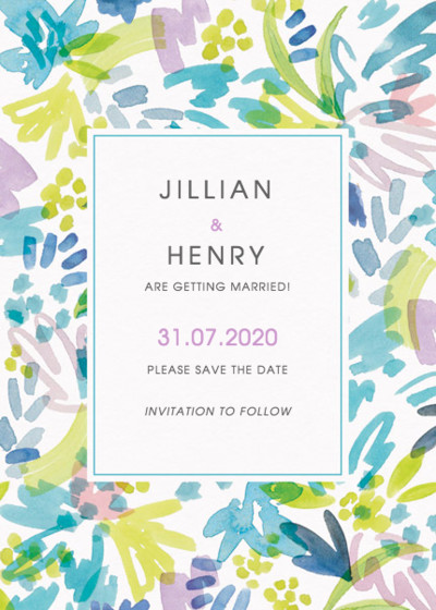 Cannes   Personalised Save The Date