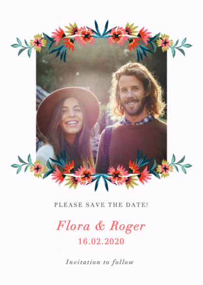 Star Flower Garland | Personalised Save The Date