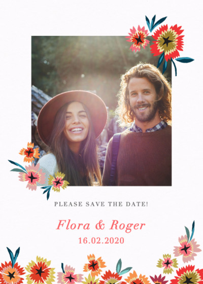 Star Flower  | Personalised Save The Date