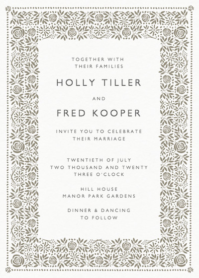 Burford | Personalised Wedding Invitation