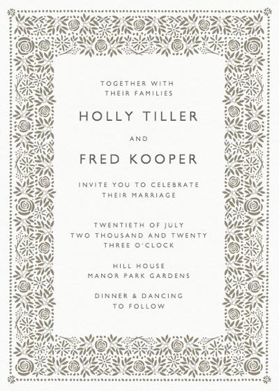 Burford | Personalised Wedding Invitation
