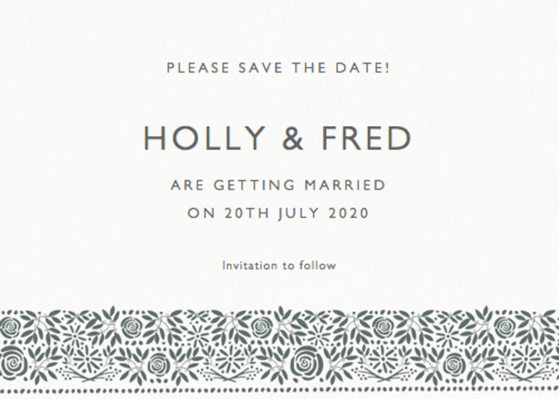 Burford | Personalised Save The Date
