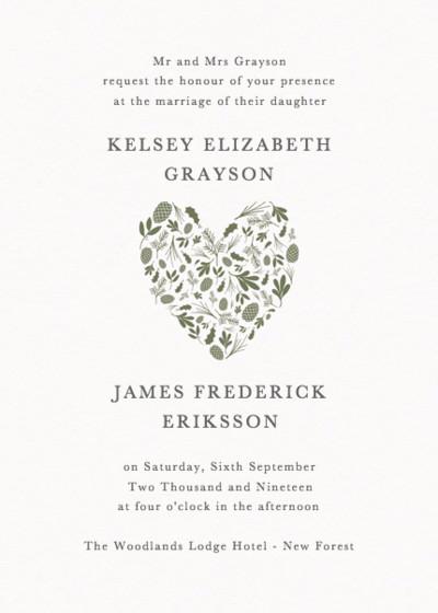 Spruce | Personalised Wedding Invitation