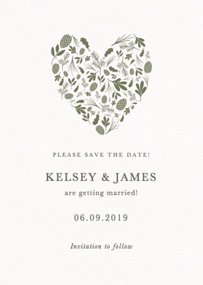 Spruce | Personalised Save The Date