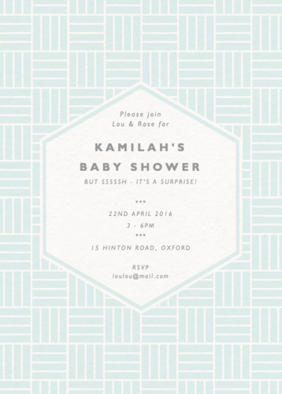 Basketweave | Personalised Party Invitation