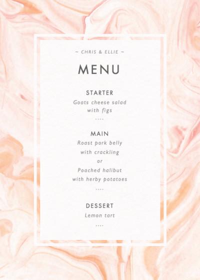 Marbled Rose | Personalised Menu