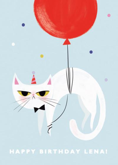 Grumpy Birthday Cat | Personalised Birthday Card