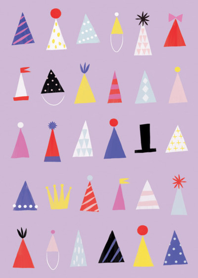 Party Hats | Personalised Birthday Card
