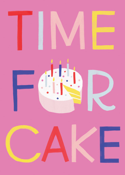 Time For Cake | Personalised Birthday Card