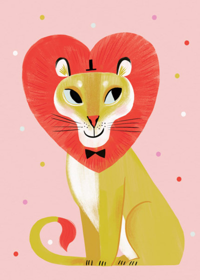 Lion Love | Personalised Greeting Card