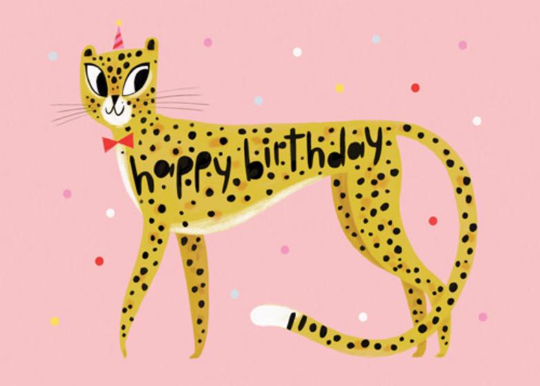 Birthday Cheetah | Personalised Birthday Card