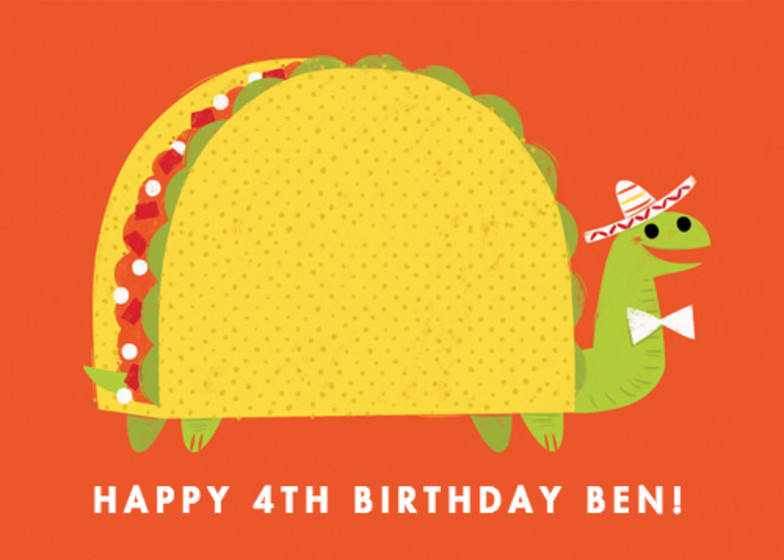 Taco Tortoise | Personalised Birthday Card