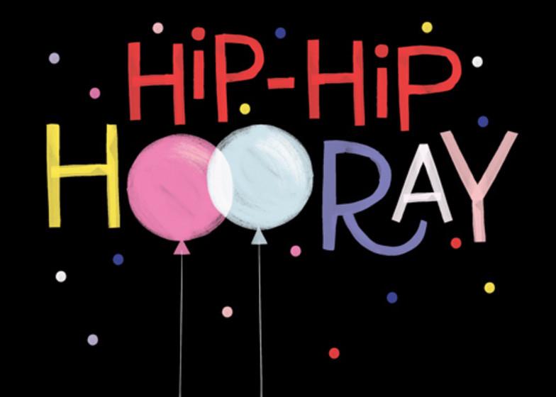 Hip Hip Hooray | Personalised Birthday Card