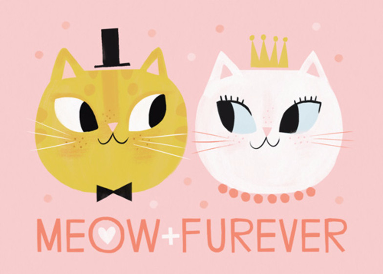Meow + Furever | Personalised Congratulations Card