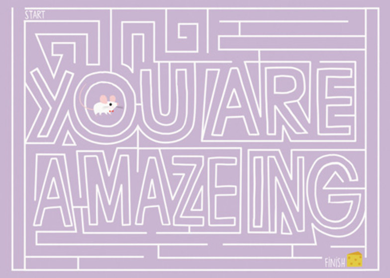 You're A-maze-ing | Personalised Greeting Card