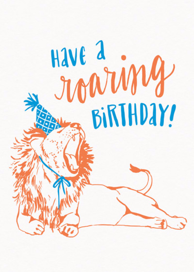Roaring Birthday | Personalised Birthday Card