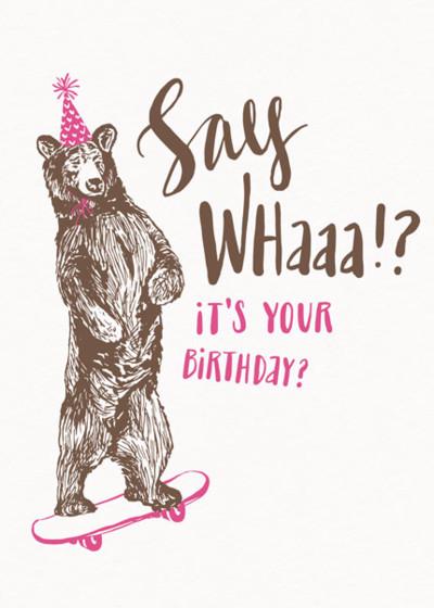 Say Whaaa!? | Personalised Birthday Card