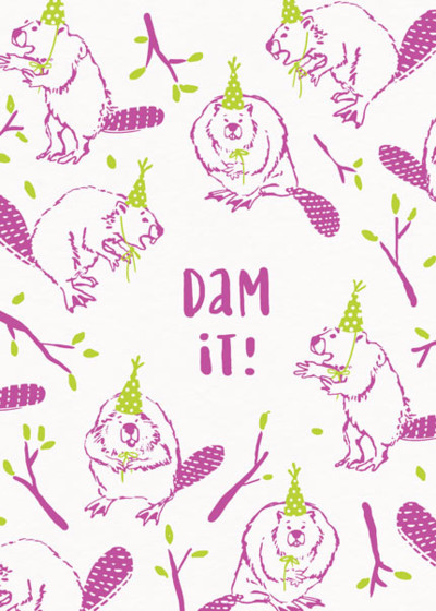 Dam It!   Personalised Birthday Card