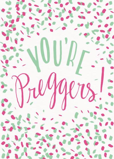 You're Preggers Confetti | Personalised Congratulations Card