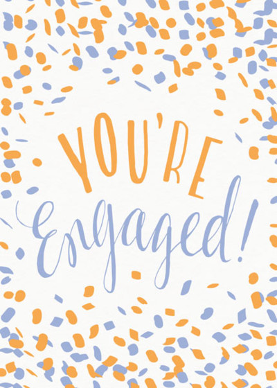 You're Engaged Confetti | Personalised Congratulations Card