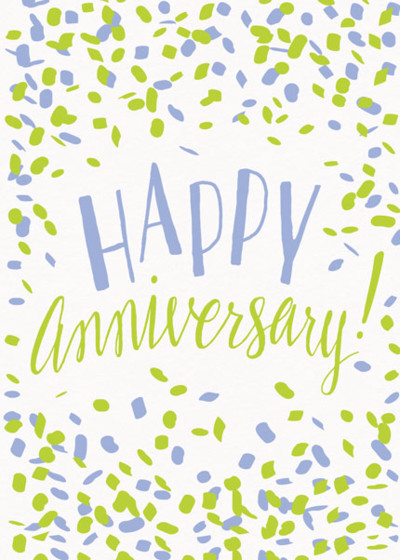 Happy Anniversary Confetti | Personalised Greeting Card