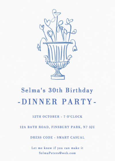 Spring Flowers | Personalised Party Invitation