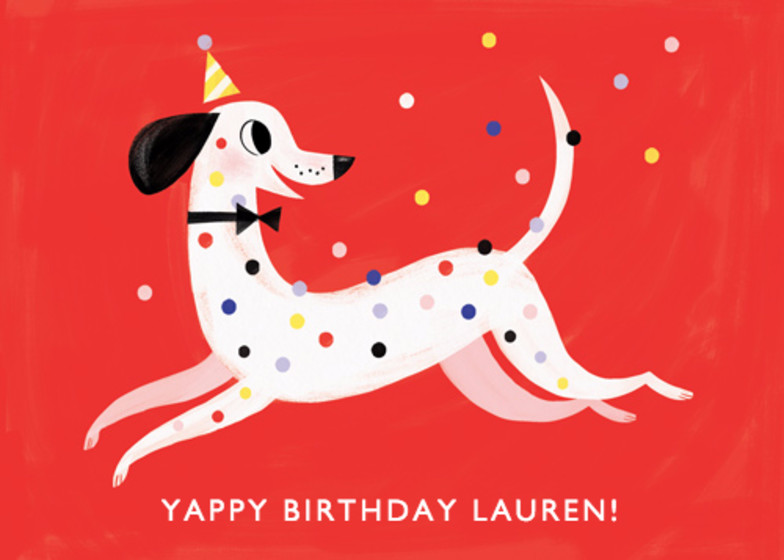 Dalmatian Celebration | Personalised Birthday Card