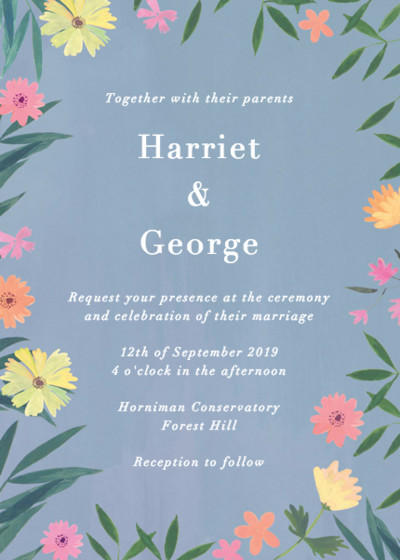 Ophelia | Personalised Wedding Invitation