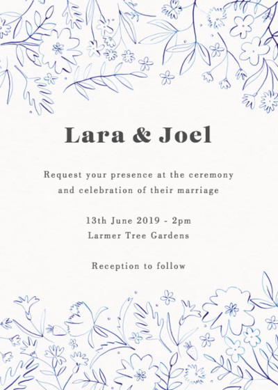 Viola | Personalised Wedding Invitation