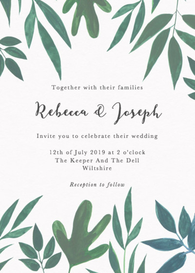 Cordelia | Personalised Wedding Invitation