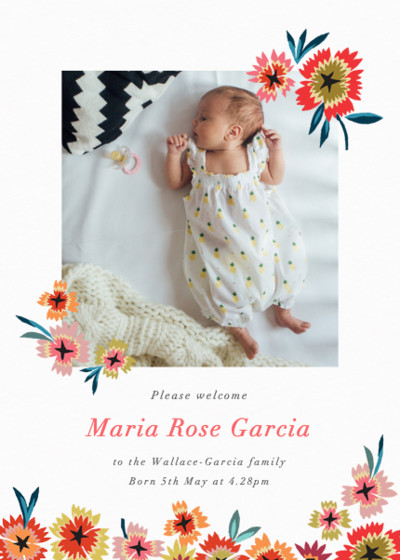 Star Flower  | Personalised Birth Announcement