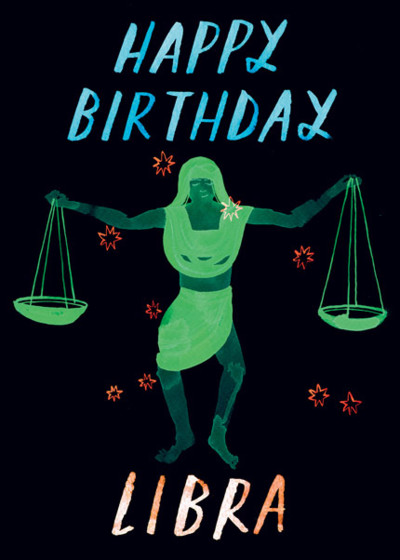 Libra | Personalised Birthday Card