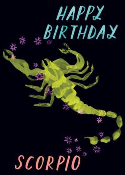 Scorpio | Personalised Birthday Card