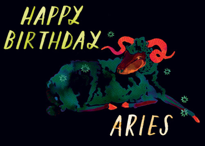 Aries | Personalised Birthday Card