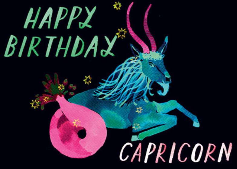 Capricorn | Personalised Birthday Card