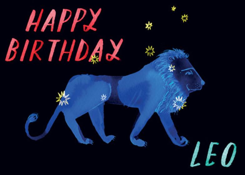 Leo | Personalised Birthday Card