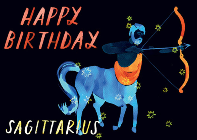 Sagittarius | Personalised Birthday Card