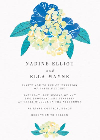 Summer Geraniums | Personalised Wedding Invitation