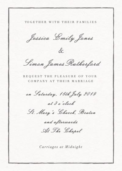 Sketch   Personalised Wedding Invitation