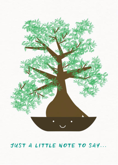Bonsai | Personalised Greeting Card
