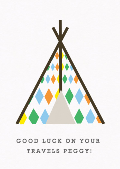 Tipi | Personalised Good Luck Card