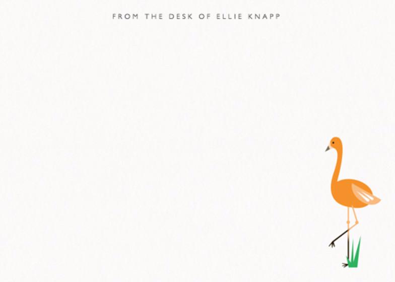 Orange Flamingo | Personalised Stationery Set