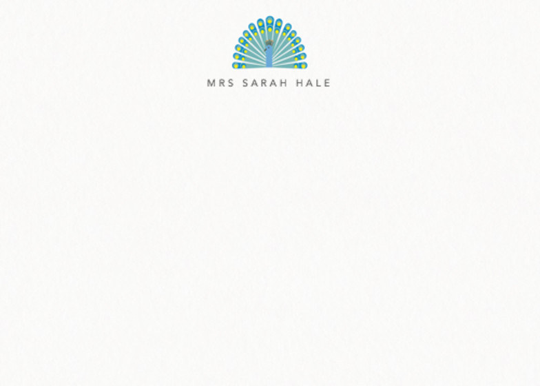 Peacock | Personalised Stationery Set