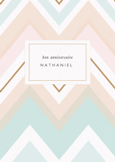 Chevron | Personalised Birthday Card