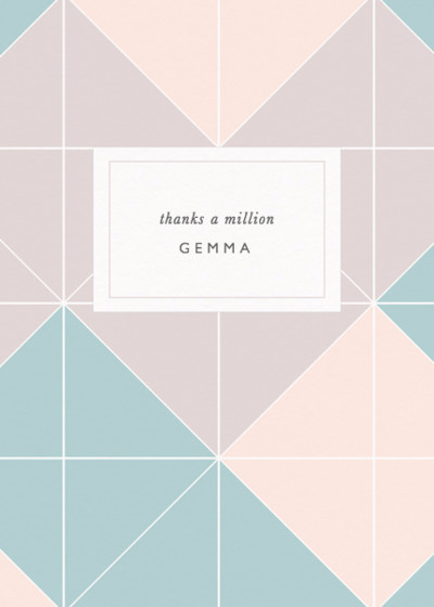 Lattice | Personalised Greeting Card