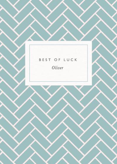 Brickwork | Personalised Good Luck Card
