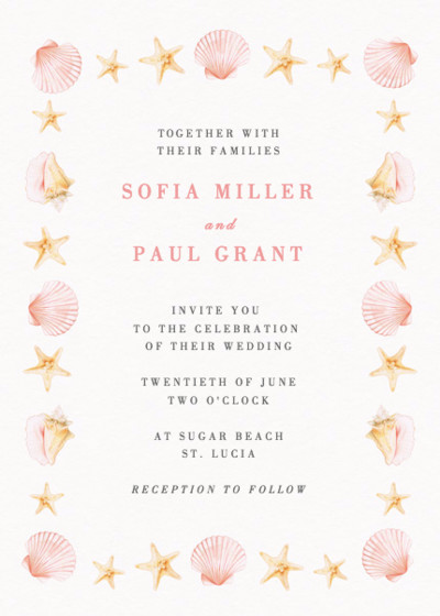Saint Lucia | Personalised Wedding Invitation