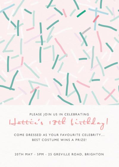 Confetto | Personalised Party Invitation