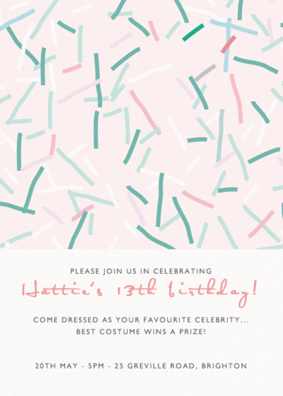 Confetto | Personalised Party Invitation