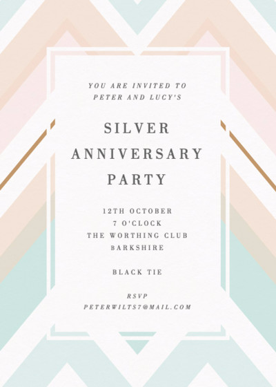 Chevron | Personalised Party Invitation